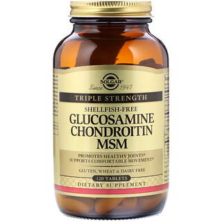 Solgar, Glucosamine Chondroitin MSM, Triple Strength, 120 Tablets