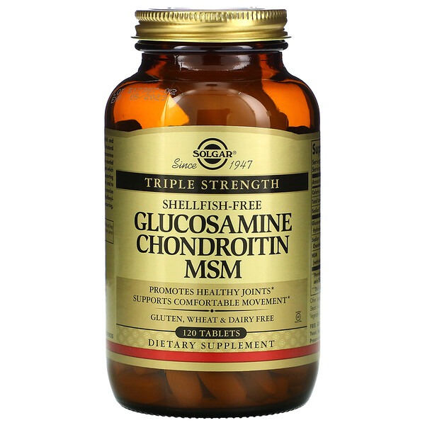 Glucosamine Chondroitin MSM, Triple Strength, 120 Tablets