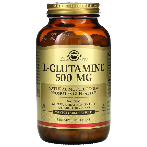 L-穀氨醯胺,500 毫克,250 粒素食膠囊