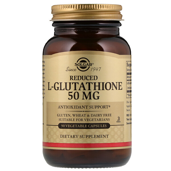 Reduced L-Glutathione, 50 mg, 90 Vegetable Capsules