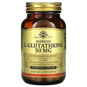 Солгар, Reduced L-Glutathione, 50 mg, 90 Vegetable Capsules отзывы покупателей