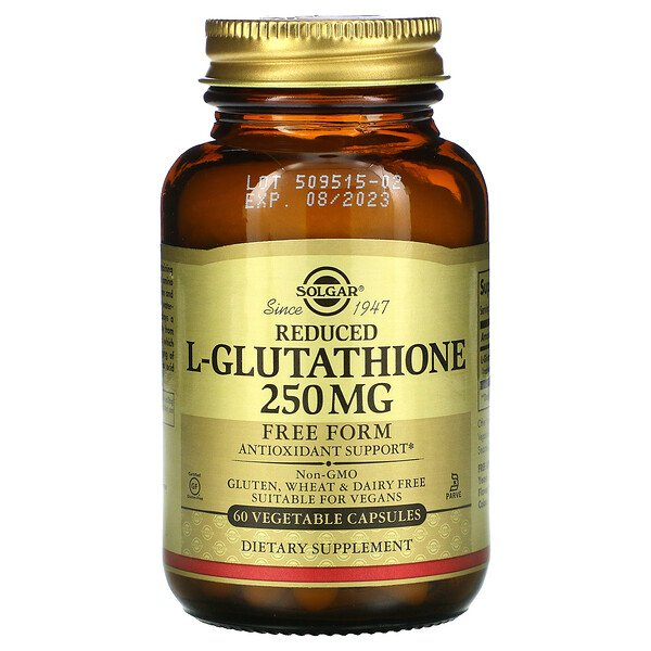 Reduced L-Glutathione, 250 mg, 60 Vegetable Capsules