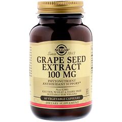 Solgar, Grape Seed Extract, 100 mg, 60 Vegetable Capsules