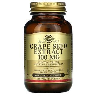 Solgar, 葡萄籽提取物,100 毫克,60 粒素食膠囊