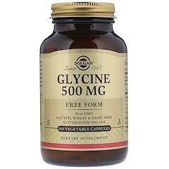Solgar, Глицин, 500 мг, 100 капсул на растительной основе