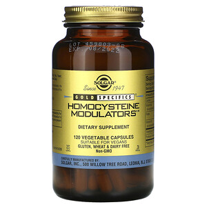 Солгар, Gold Specifics, Homocysteine Modulators, 120 Vegetable Capsules отзывы покупателей