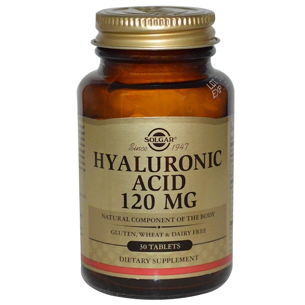 Solgar, Hyaluronic Acid, 120 mg, 30 Tabletten