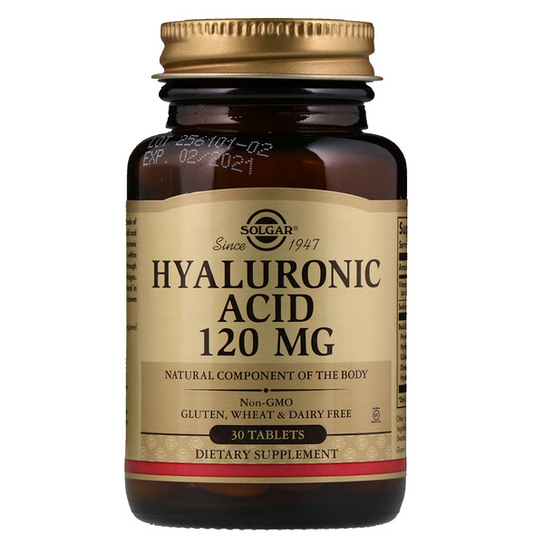 Hyaluronic Acid, 120 mg, 30 Tablets