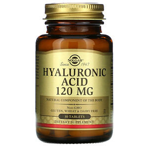 Солгар, Hyaluronic Acid, 120 mg, 30 Tablets отзывы покупателей