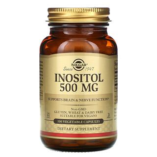 Solgar, Inositol, 500 mg, 100 Vegetable Capsules