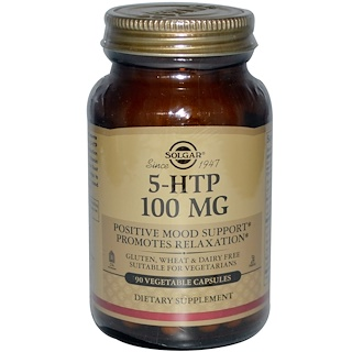 Solgar, 5-HTP, 100 mg, 90 Vegetable Capsules