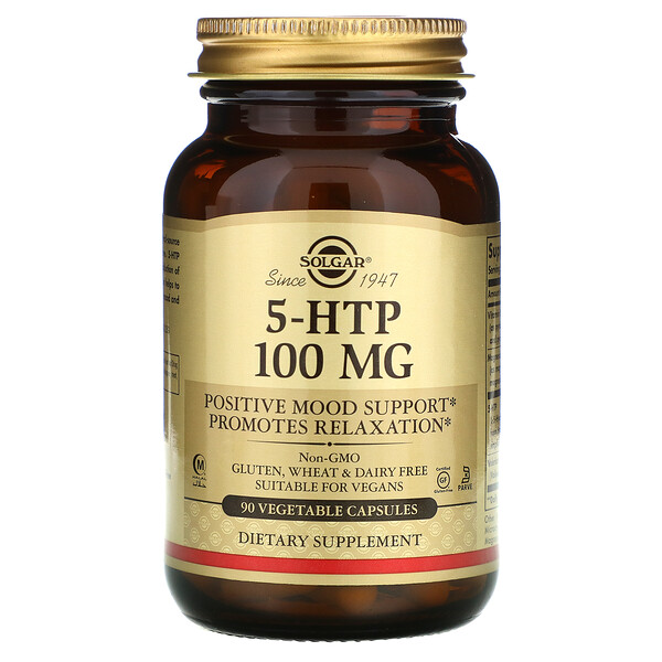 5-HTP, 100 mg, 90 Vegetable Capsules