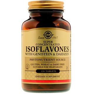 Solgar, Isoflavones, with Genistein and Daidzein, 120 Tablets