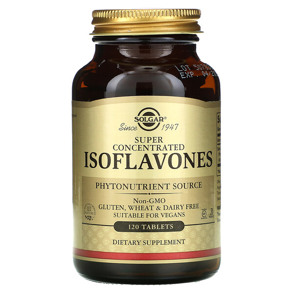 Solgar, Isoflavones, Super Concentrated , 120 Tablets