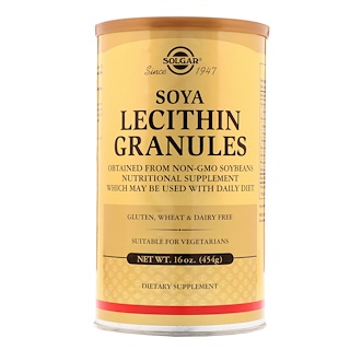 Solgar, Лецитин в гранулах, 16 унций (454 г)