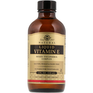 Solgar, Natural Liquid Vitamin E, 4 fl oz (118 ml)