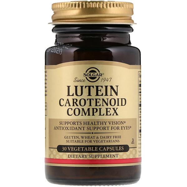 Solgar, Complexe lutéine caroténoïde, 30 capsules végétales