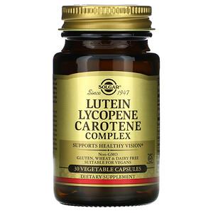 Солгар, Lutein Lycopene Carotene Complex, 30 Vegetable Capsules отзывы