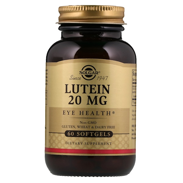 Solgar, Luteína, 20 mg, 60 Softgels