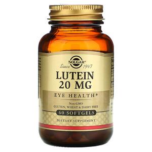 Солгар, Lutein, 20 mg, 60 Softgels отзывы