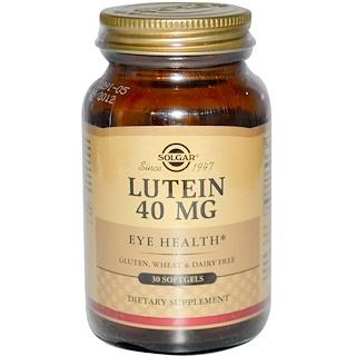 Solgar, Lutein, 40 mg, 30 Softgels