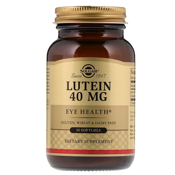Lutein, 40 mg, 30 Softgels