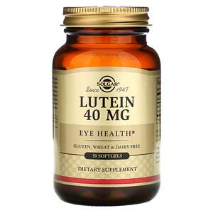 Солгар, Lutein, 40 mg, 30 Softgels отзывы покупателей