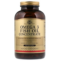 Solgar, Омега-3 рыбий жир концентрат, 240 капсул