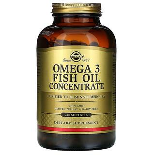 Solgar, Concentré d'huile de poisson riche en oméga-3, 240capsules à enveloppe molle