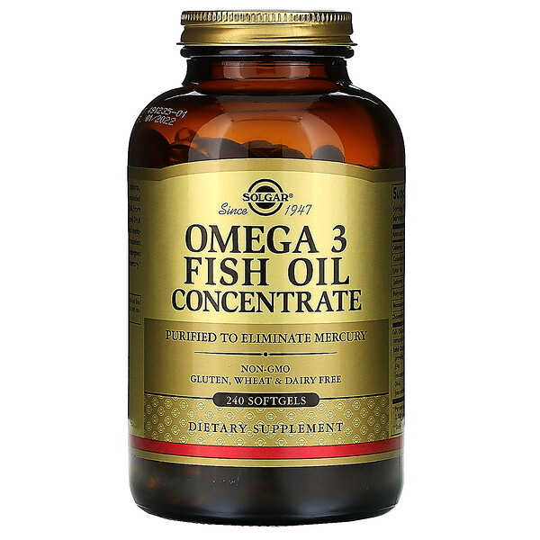 Solgar, Omega-3 Fish Oil Concentrate, 240 Softgels