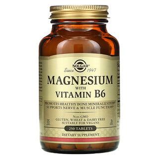 Solgar, Magnesium with Vitamin B6, 250 Tablets