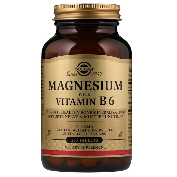 Magnesium with Vitamin B6, 250 Tablets