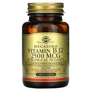 Solgar, Vitamina B12 Megasorb, 2.500mcg, 120Nuggets