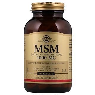 Solgar, MSM (Methylsulfonylmethane), 1,000 mg, 120 Tablets