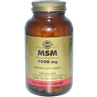 Solgar, MSM (Methylsulfonylmethane), 1000 mg, 120 Tablets