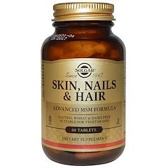 Solgar, Skin, Nails & Hair, Advanced MSM Formula, 60 Tablets