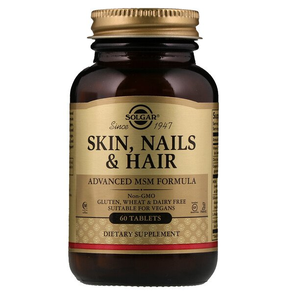 Skin, Nails & Hair, Advanced MSM Formula, 60 Comprimidos