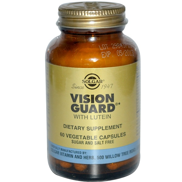Solgar, Vision Guard with Lutein, 60 Veggie Caps (Discontinued Item)