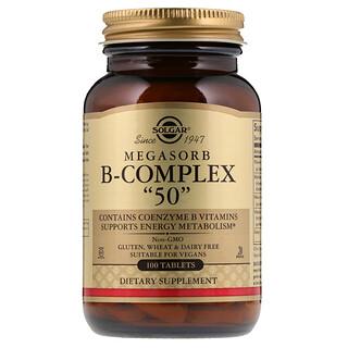"""Solgar, Комплекс витамина B  Megasorb """"50"""", 100 таблеток"""