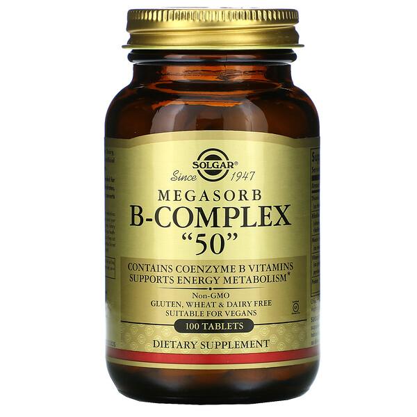 """Megasorb B-Complex """"50"""",100 片"""