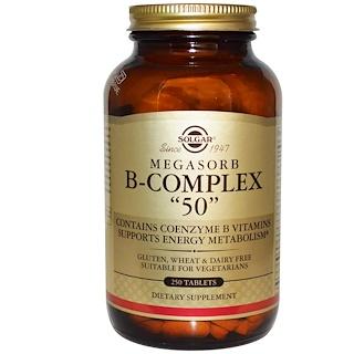 """Solgar, Мегасорб B-комплекс """"50"""", 250 таблеток"""