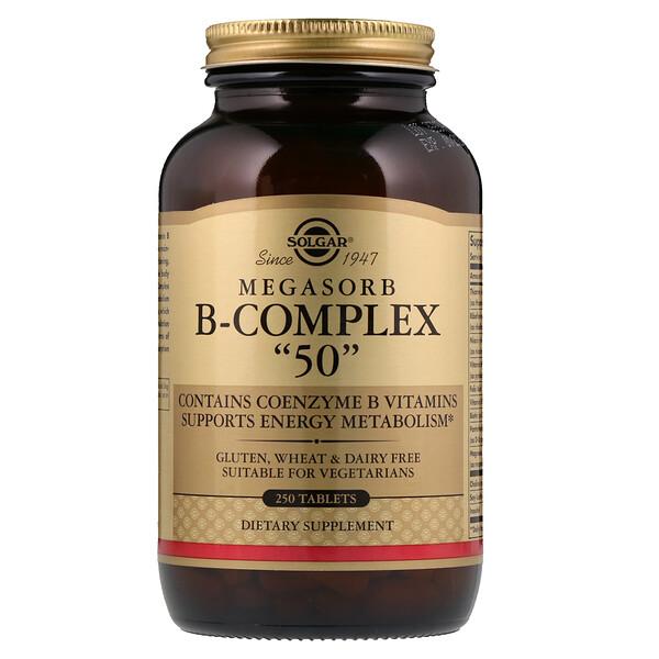 Megasorb B-Complex « 50 », 250 comprimés