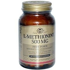 Solgar, L-Methionine, 500 mg, 90 Vegetable Capsules
