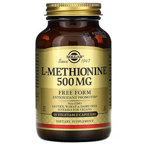 Солгар, L-Methionine, 500 mg, 90 Vegetable Capsules отзывы покупателей