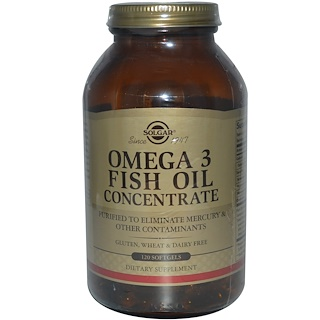 Solgar, Omega-3 Fish Oil Concentrate, 120 Softgels