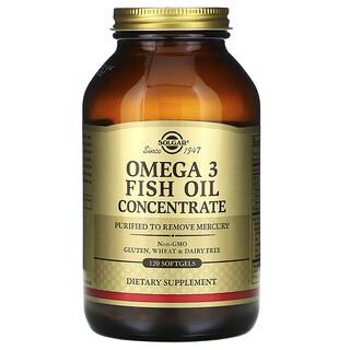 Solgar, Concentré d'huile de poisson riche en oméga-3, 120capsules à enveloppe molle