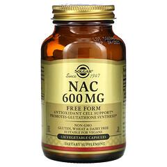 Solgar, NAC,600 毫克,120 粒素食膠囊