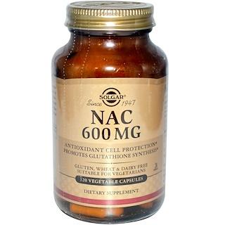 Solgar, NAC、600 mg、120ベジカプセル