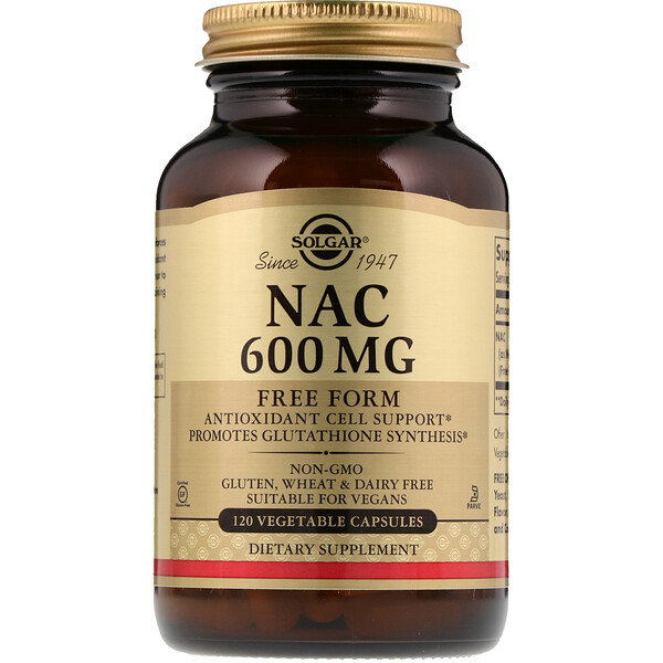 NAC, 600 mg, 120 Vegetable Capsules