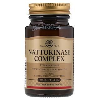 Solgar, Complexe nattokinase, 30 capsules molles